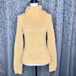American Eagle Cowl Neck Cable Knit Sweater Medium